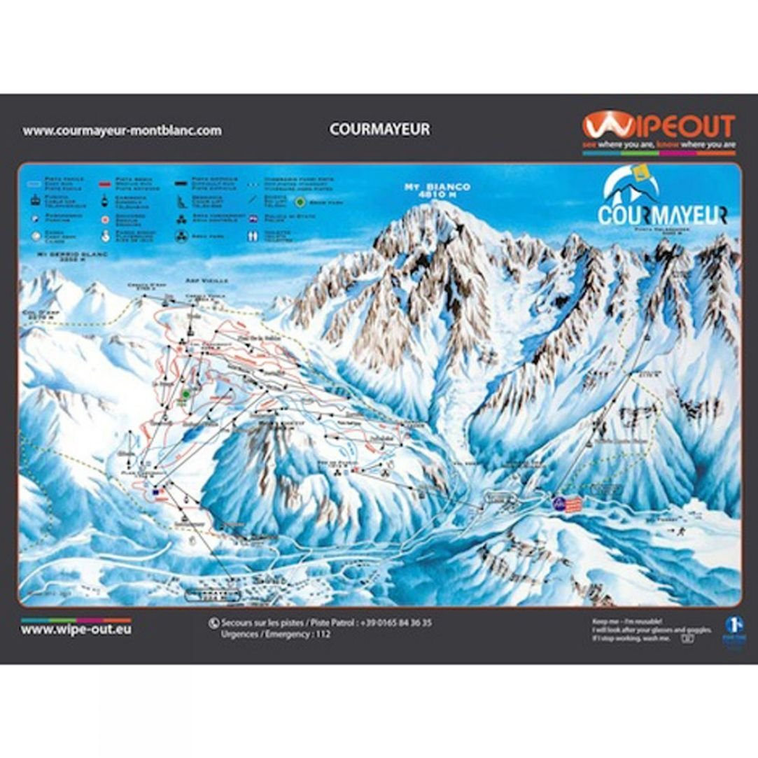 Wipeout Wipeout Courmayeur Piste Map Lens Cloth SnowRock