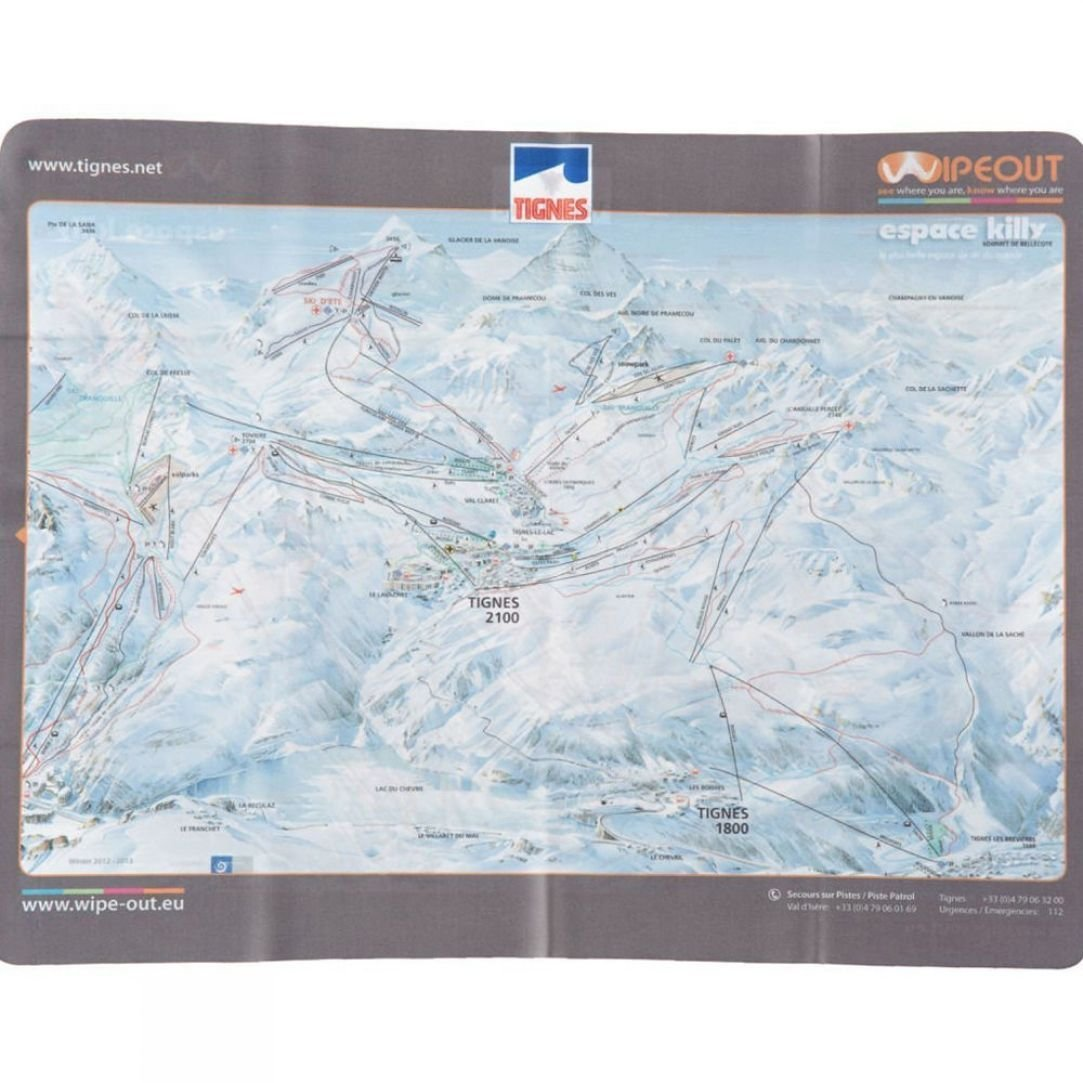 Wipeout Wipeout Espace Killy Piste Map Lens Cloth SnowRock