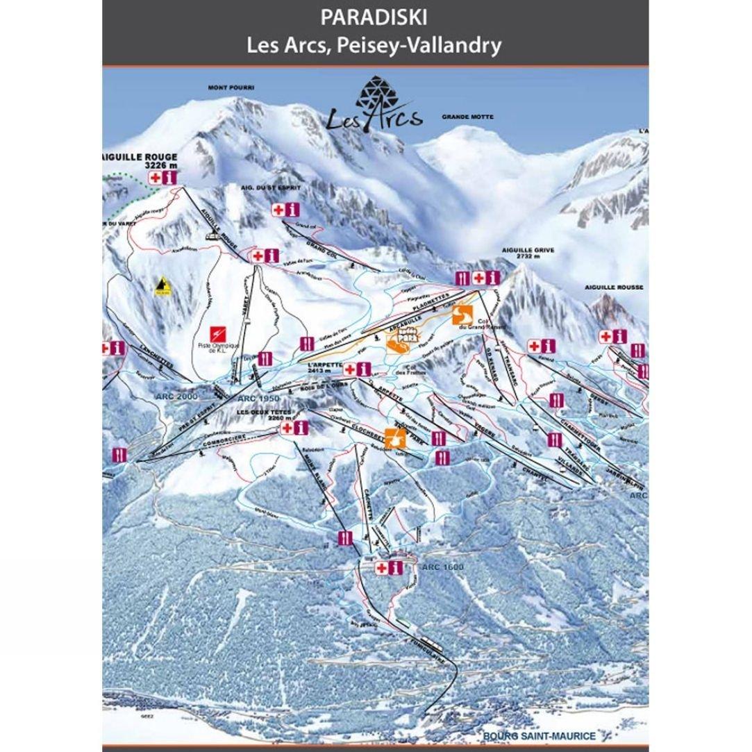 Wipeout Wipeout Paradiski Piste Map Lens Cloth SnowRock